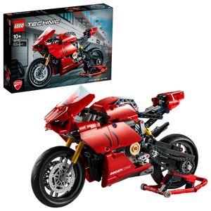 LEGO 42107 Technic Ducati Panigale V4 R Motorrad, Supermotorrad-Schaustück für Sammler