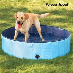 Speed Hundepool,Doggy Pool,Katzenpool,Faltbares Pool,Kinderbadewann,blau,80x20CM