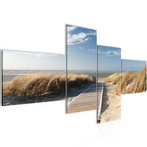 Strand Meer BILD :200x100 cm − FOTOGRAFIE AUF VLIES LEINWANDBILD XXL DEKORATION WANDBILDER MODERN KUNSTDRUCK MEHRTEILIG 604041a