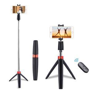 3 in 1 Universal Smartphone Selfie Stick Handy Bluetooth Stativ Tripod Selfie Halter Ständer mit Fernbedienung 360°Rotation Selfie Stange