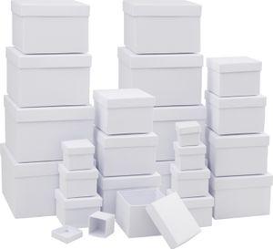 VBS 24er Pack Geschenkschachteln, Pappkarton, Geschenkbox verschiedene Größen