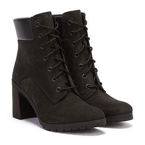 Timberland Damen Schnürstiefeletten Schwarz Schuhe, Größe:39 1/2