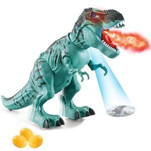 Elektrisch Dinosaurier Spielzeug Kinder, Tyrannosaurus Rex Spielzeug mit Dinosaurier-Ei und Brüllendem Dinosaurier-Sound, Realistisches Dinosaurier Spielzeug
