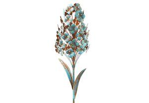 Gartenstecker Dekostecker rusty blue hyacinth H 100 cm