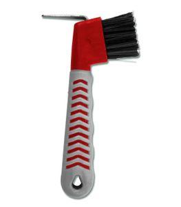 Hoof-Pick-Brush Grippy, rot/grau