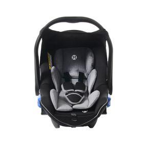 Babyschale, Kindersitz, Autositz Baby,  Gruppe 0+, ab Geburt bis ca. 15 Monate,  0-13 kg, ECE R44/04,  Babyblume TULIP,   grau-schwarz