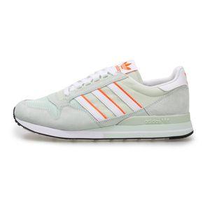 adidas Originals ZX 500 Trainings-Schuhe pastellfarbige Herren Sneaker im 80er-Stil Grün, Größe:42 2/3