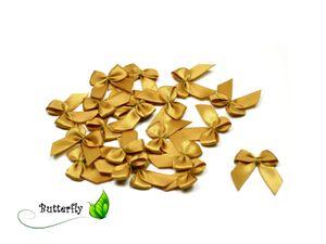 Satinschleifen 25mm, 20 Stück, Farbe:gold 687