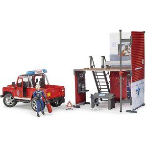 bworld Feuerwehrstation mit Land Rover Def.+Feuerwehrmann
