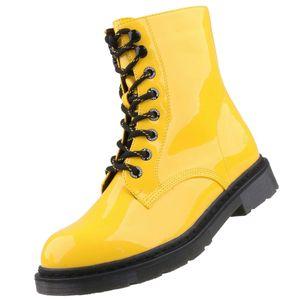 Dockers by Gerli Damen 45TS201 Stiefel Dessert Boots Combat Boot, Farbe:Gelb (Gelb), Größe:EUR 40
