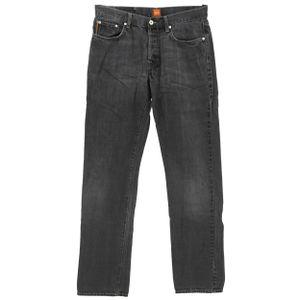 #5511 Hugo Boss, HB 25,  Herren Jeans Hose, Denim ohne Stretch, black used, W 33 L 34