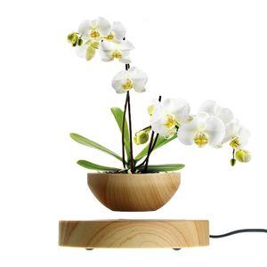 Magnetisch schwebender Blumentopf Luft-Bonsai-Topf Schwimmender rotierender Pflanzentopf für Home Office Room Desk Display Decor (ohne Pflanze)