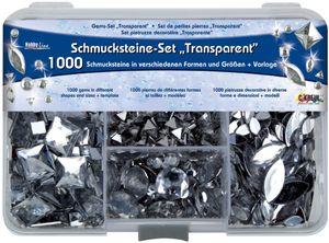 """KREUL Schmucksteine Set Hobby Line """"Transparent"""" 1.000 Schmucksteine"""