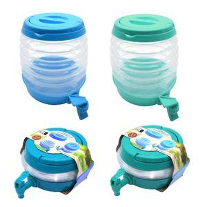 2er Set Getränkespender Faltbar 3,5l | Limonadenspender Wasserspender mit Zapfhahn | Saftspender Getränke Spender