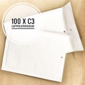 100 x Luftpolstertaschen Versandtaschen Umschläge Größe C/3 C3 - Weiss Außenmaße: 170 x 225 mm