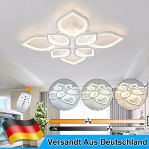 80W LED Deckenleuchte Dimmbar Deckenlampe mit Fernbedienung Wohnzimmer Lampe
