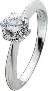 Solitär Ring Weissgold 750 Diamant Brillant 0,62ct W/P1 Krappenfassung massiv Vorsteck- Verlobungs