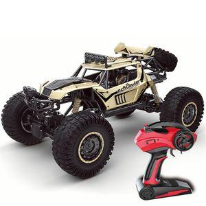 GLIME Auto Buggy Wasserdichter Monstertruck 1: 8 mit 2,4 GHz über 35 km/h schnell, wendig, 4WD Ferngesteuertes Auto Buggy Racing Gold