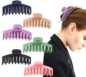 6 farbige Haarklauenclips für Frauen Rutschfeste große Klauenhaarclips für Mädchen Starker Halt für dickes Haarzubehör