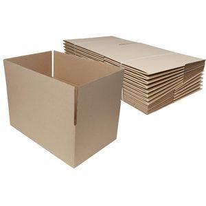 Faltkartons, braun, Automatikboden (15 Stück, 395x255x165mm)