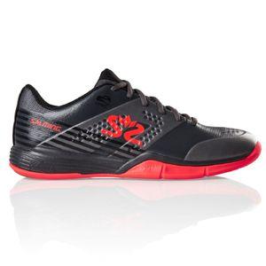 Salming Viper 5 Lava Indoor Handballschuhe Hallenschuhe grau/rot 1239071-0205, Schuhgröße:44 EU