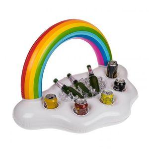 aufblasbarer Pool Bar Getränkehalter Regenbogen Poolbar Getränkekühler