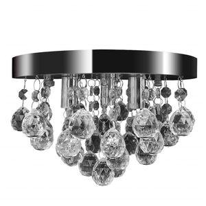 vidaXL Kronleuchter Deckenleuchte Kristall Design Lüster Chrom