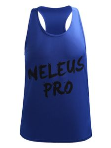 Herren Letters Ärmellose Weste Tank Top Unterhemd Sport Fitness T-Shirt Schnell Trocknend,Farbe: Blau,Größe:M