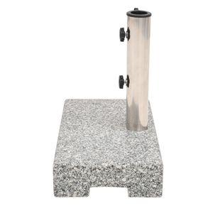 Hommie® Sonnenschirmständer Standfestigkeit Modern Design - Schirmhalter Granit Rechteckig 25 kg ❤2612