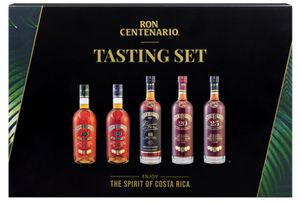 Ron Centenario Rum Tasting Set   beinhaltet Centenario 9, 12, 18, 20 & 25   40 % vol   5 x 50 ml   insgesamt 0,25 l