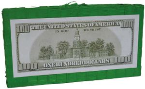 Pinata US Dollar Bank Note Kinder-Geburtstag Party Deko Feier Fete Motto