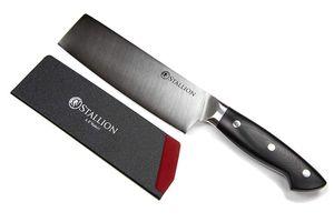 Stallion Professional Messer Nakirimesser 16,5 cm - Klinge: 1.4116 Messerstahl, Griff: G10 GFK