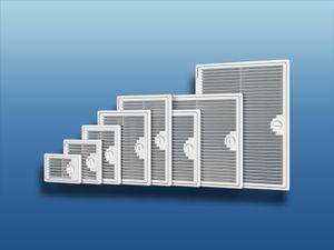 Revisionstür Kunststoff belüftet : 250x250mm Größe: 250x250mm