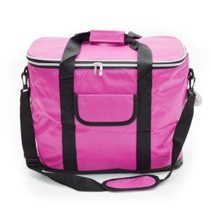 Kühltasche 30L mit Schultergurt, XXL isolier Kühlbox - Fuchsia/ Pink
