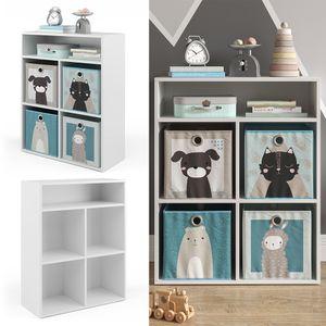 Vicco Kinderregal Luigi für 4 Faltboxen Bücherregal Spielzeugregal Aufbewahrung Regal