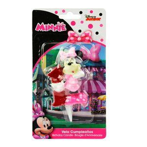 Minnie Maus Kerze Geburtstagskerze Zahl 1 rosa-rot-schwarz 6,5cm