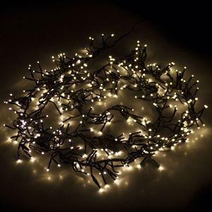 Cluster-Lichterkette 1152 LEDs Warmweiß 8,5m mit Timer + Dimmer Innen/Außen
