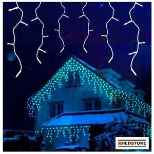 Eiszapfen Eisregen LED Lichterkette NoMotion warmweiß 16Meter