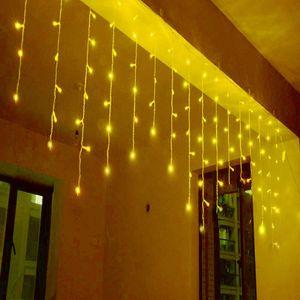 5m 200LED Lichtervorhang Weihnachtsbeleuchtung Eisregen Lichterkette Lichternetz