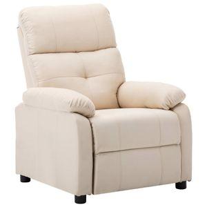 Möbel® Fernsehsessel Relaxsessel,Liegesessel,TV Sessel,Relax Liegestuhl Komfortabel Für Wohnzimmer Cremeweiß Stoff🌈9302