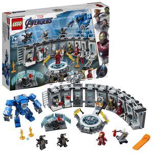 LEGO 76125 Super Heroes Marvel Avengers Iron Mans Werkstatt, modulares Labor mit 6 Marvel Universe Minifiguren, Spielset
