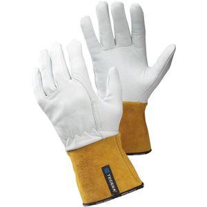 TEGERA Schweisserhandschuhe Typ 130 Ideal für Präzisionsarbeiten - Hitzebeständig - Gummizug am Handgelenk, Verstärkter Zeigefinger - Gr. 10