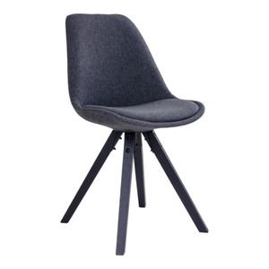 2x Esszimmerstuhl BART Stuhlgruppe Sitzgruppe Stühle Stapelstuhl dunkelgrau