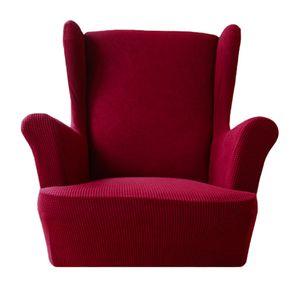 Waschbarer elastischer Sesselbezug Ersatz Ohrensessel Liege Couch Schonbezug Größe Weinrot