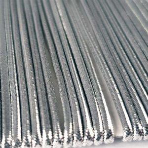 Rundgummi in vielen Farben - 300cm - Ø1,6mm, Silber Hutgummi Gummikordel