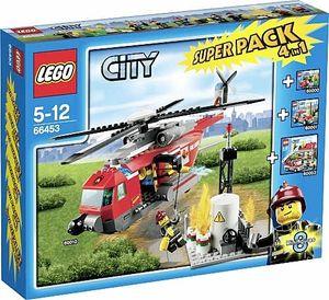 Lego City 66453 Feuerwehr Super Pack 4In1 60000+60001+60003+60010