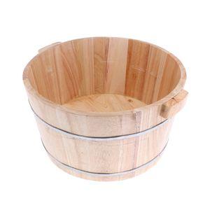Massiv Holz Sauna Fußwanne Saunakübel Fußbadekübel Fußmassage Fußbecken 02 Eimer Wanne