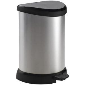 CURVER 20 L Pedal Bin - Metalloptik - 30,3 x 26,8 x 44,8 cm
