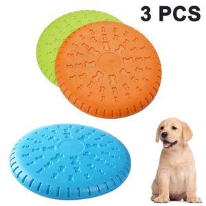 Scheibe Hund, 3 Stück Soft Rubber Disc, Hunde Scheiben, Langlebiges Training Hundespielzeug, Interaktive Outdoor-Spielzeug für Große Hunde