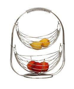 Obst Schaukel Hängekorb Obstkorb Etagere mit 2 Körben